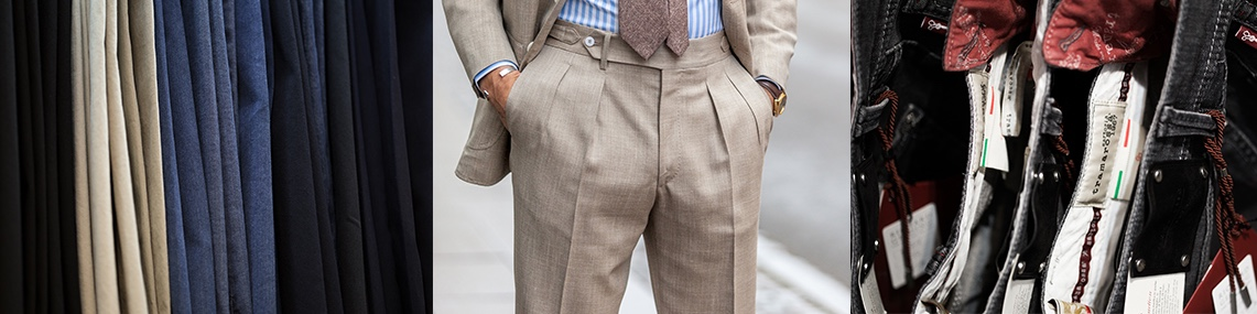 Mens Trousers at Richard Gelding Mayfair